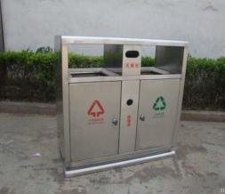 不锈钢分类垃圾桶