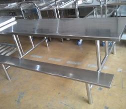 不锈钢桌椅餐桌